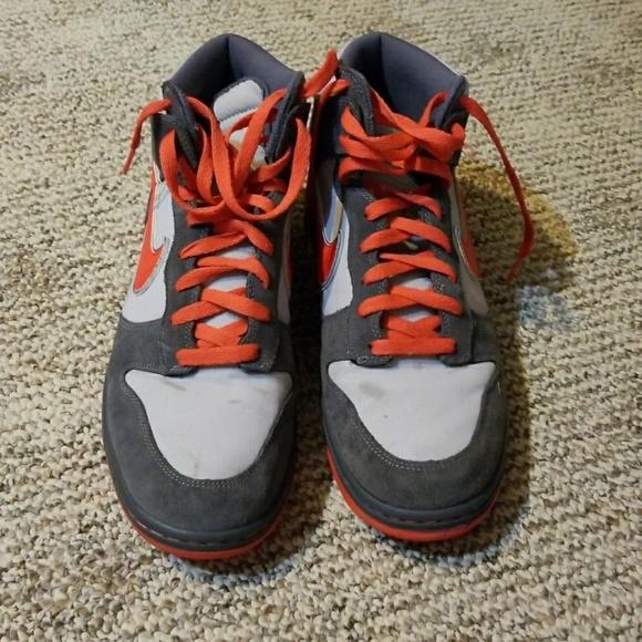 finest selection 35c75 d6e84 Men s nike dunk high 6.0 grey orange skate shoes. M 5aa186c78290af3a03fe8107